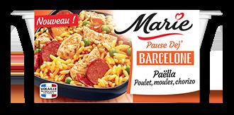 Paëlla Poulet, moules, chorizo