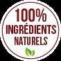 100% ingrédients naturels
