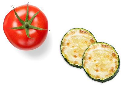 Tomate Courgettes