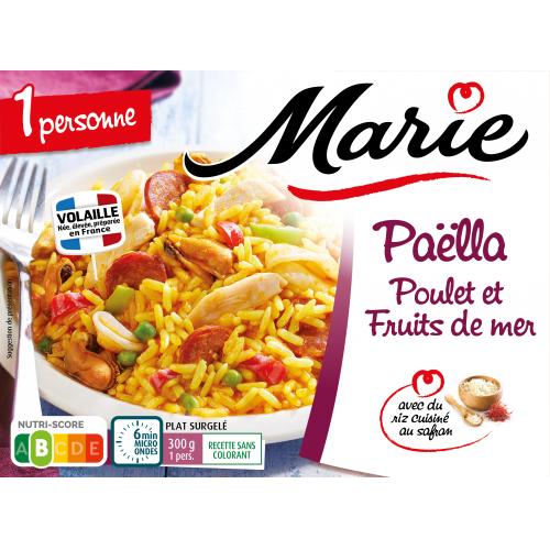 Paëlla poulet fruits de mer pour 1 Marie