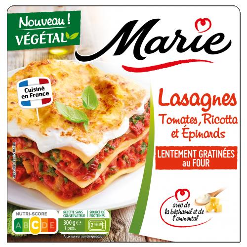 Lasagnes tomates ricotta épinards Marie