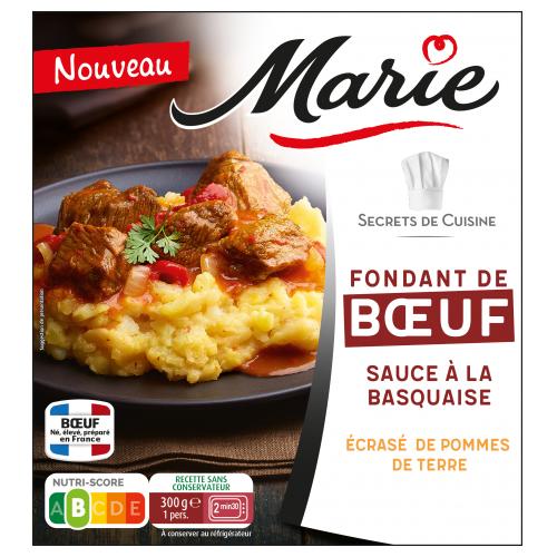 Fondant de bœuf sauce Basquaise Marie