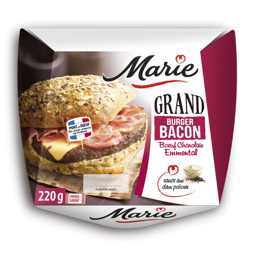 Grand burger bacon Marie