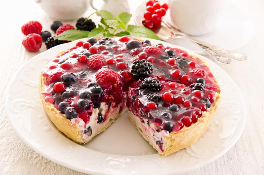Recette Marie Tarte mousse blanche et fruits rouges
