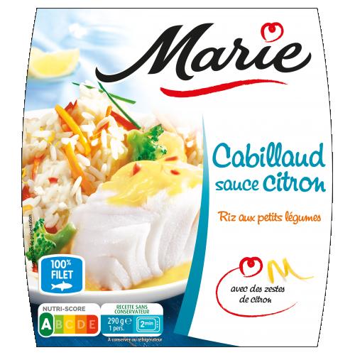 Cabillaud sauce citron Marie