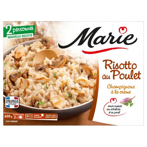 Risotto au poulet pour 2 Marie