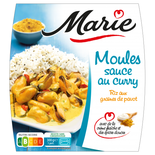Moules sauce au curry Marie