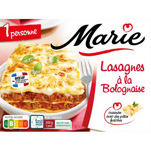 Lasagnes à la Bolognaise pour 1 Marie