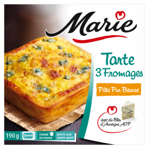 Tarte 3 fromages individuelle Marie