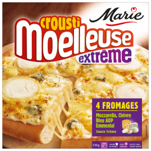 Pizza 4 fromages croustimoelleuse Extrême