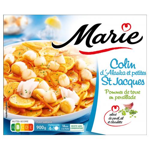 Colin et petites saint Jacques et pommes de terre Marie