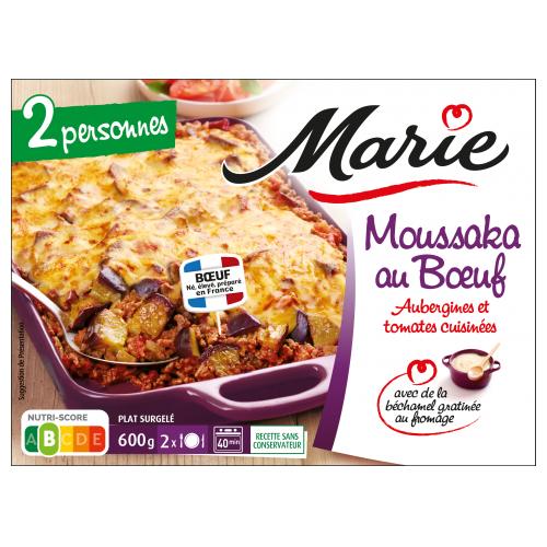 Moussaka au bœuf pour 2 Marie