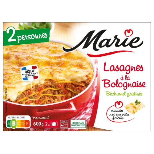 Lasagnes à la bolognaise pour 2 Marie