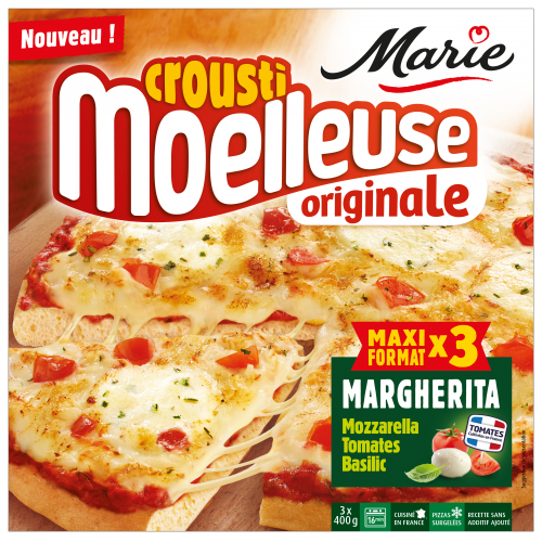 Pizza Margherita croustimoelleuse Originale