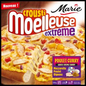 Pizza poulet curry croustimoelleuse Extrême