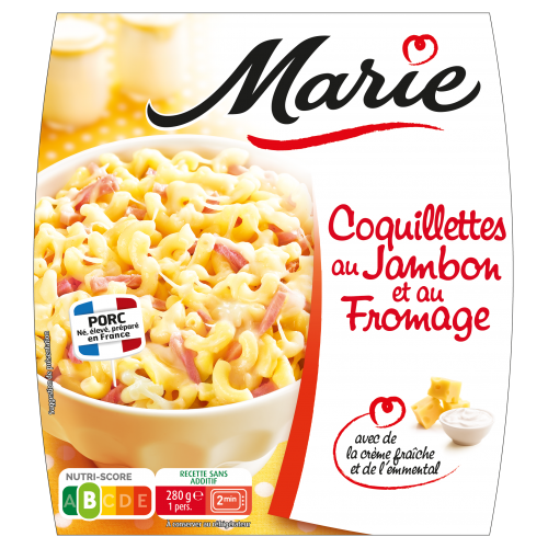 Coquillettes jambon fromage Marie