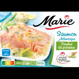 Saumon fondue de poireaux Marie