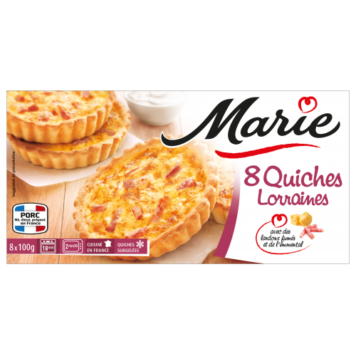 8 Quiches Lorraines individuelles Marie
