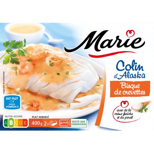 Colin bisque de crevettes Marie