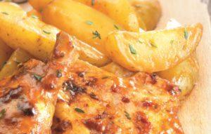 Cuisse de poulet rôtie Marie