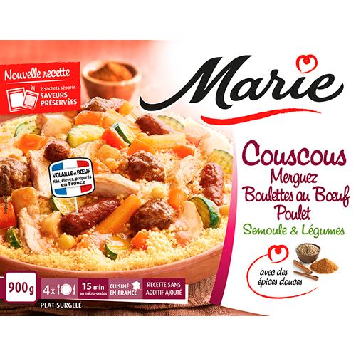 Couscous merguez boulette de bœuf Marie