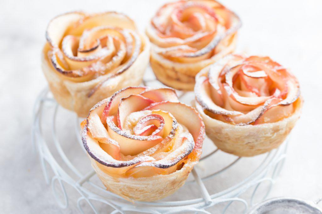 Recette Marie Roses feuilletées au pommes