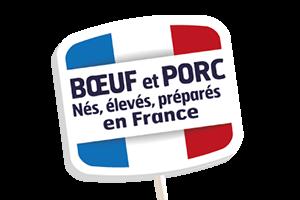 Marie Bœuf et Porc nés élevés et préparés en France